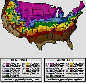 hardiness zones in US